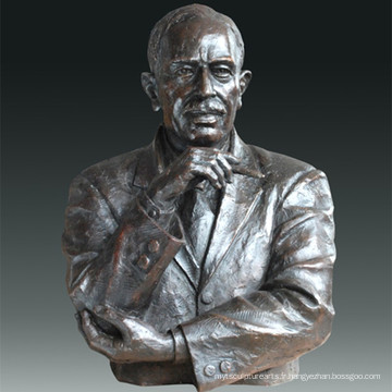Statue grande figure Économiste Keynes Bronze Sculpture Tpls-082