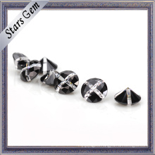 Round Competitive Price Multi-Color White and Black Gemstone