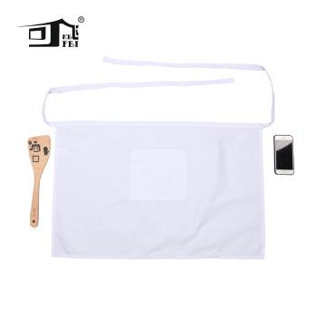 Half waist plain apron white