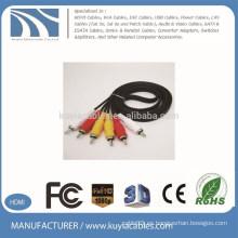 1.5m 3rca a cable 3rca cable de audio y vídeo macho a macho