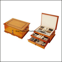 113PCS Stainless Steel Cutlery Set with Wood Box