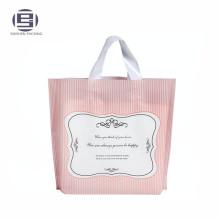 Levántese las bolsas plásticas de la manija del lazo de las compras para la venta, compras bolsos del portador