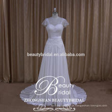 Vestido de noiva feminino Light Ivory Wedding Vestido Vestido de casamento vintage de amostra real fornecido pelo OEM