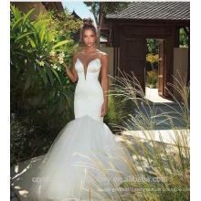 Sexy 2017 White Ivory Floor length wedding gowns Trumpet Mermaid wedding dress WW1422