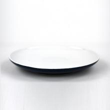 Meilleur prix rond en céramique restaurant assiette ronde bleue