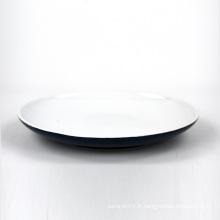 Meilleur prix rond en céramique restaurant bleu moderne assiette