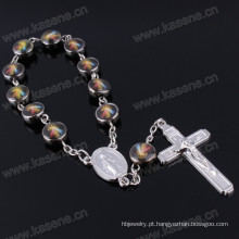 Fábrica Diretamente Design Simples Christian Religioso Pulseira Corrente Saint Beads