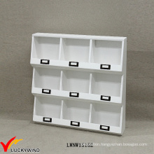 Handmade French Small Decorative Wall White Wooden Shelving Units