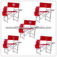 Cadeira dobrável diretor, cadeira com mesa lateral e saco de dobramento