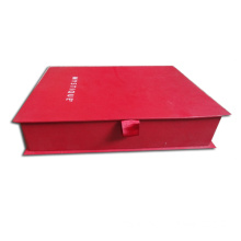 Red Cardboard Skin Care Set Packaging Box