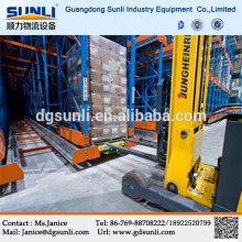 High density High efficiency radio shuttle meal storage racking system