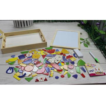 Multi Function Kids Wooden Tabletop Magnet Easel Box