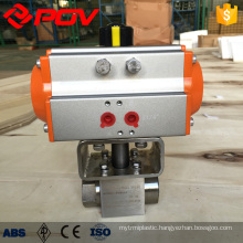 high pressure threaded connection pneumatic ball valve