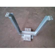 La inmersión caliente galvanizó los soportes de la forma de V hardware / accesorios eléctricos montaje de montaje de línea de poste eléctrico