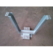 Hot Dip Galvanized V Shape Brackets hardware/Power accessories electric pole line mounting fitting