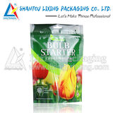 Flower Seed Stand Up Pouch With Laser Score Tear Line & Zipper