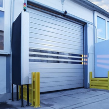 Aluminum turbine high speed roller shutter door