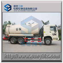 HOWO 6X6 Rhd 16000 L Vacuum Tanker Truck