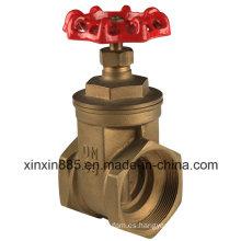 Válvula de compuerta de latón con mango de rueda