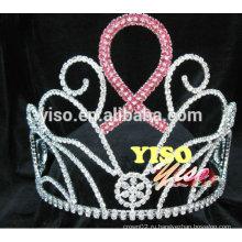 Большой выступающая кристалл лента королева кристалл tiara crown