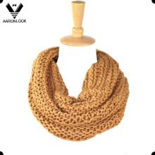 Зимний блестящий высокого качества оптовой шею круг шарф
