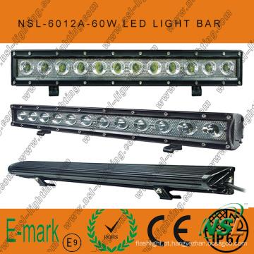 """60W 20 """"LED fora da barra de luz de estrada, 6000k, 5100lm LED fora da barra de luz de estrada"""