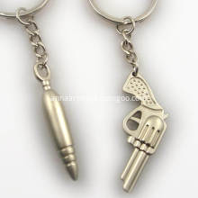 Custom 3D 2D Shape Metal Keychain for Men