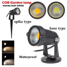 3 w 5 w 7 w 9 w jardim ao ar livre 220 v ac LED gramado COB LED Spike branco quente IP65 lagoa paisagem ponto jardim levou luz do caminho