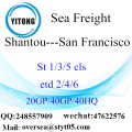 Shantou Port Sea Freight Versand nach San Francisco