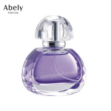 ODM / OEM Bespoke botella de perfume de vidrio con el casquillo de encargo