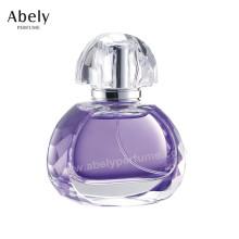 L'ODM / OEM a annoncé la bouteille en verre de parfum avec le jet et l'atomiseur originaux