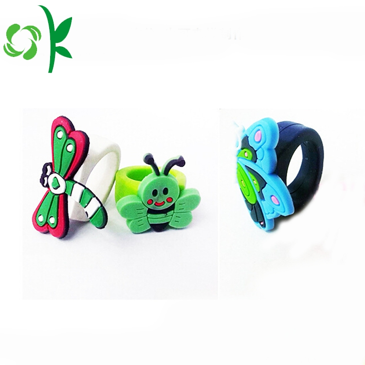 Butterfly Silicone Rings