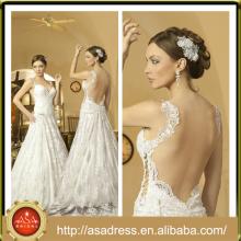 NA-18 Plus-Größe Crepe bodenlangen langes Braut-Hochzeitskleid Appliqued Brautkleider mit abnehmbarem Zug Vestidos De Noiva