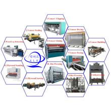 Kurze Zyklus Holz Hydraulische Heißpressmaschine für Sperrholz und Furnier