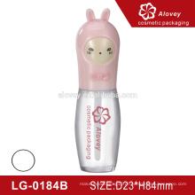 Recipientes de tubo de lipgloss bonito por atacado com escova com amostra grátis