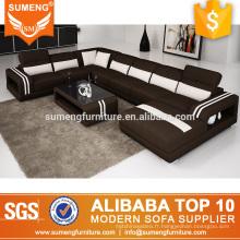 Set de canapé en tissu de couleur contrastée SUMENG U