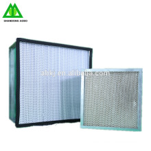 Industrielle h13 hepa luftfilter h14 flow laminar box air hapa filter