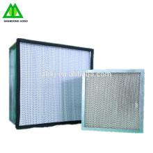 Filtros de aire hepa industriales h13 filtro de hampa huna flujo de aire de la caja