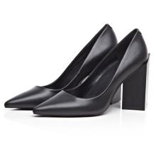 женщин черный коренастый каблуках