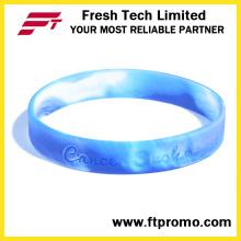 Bracelet de silicone promotionnel personnalisé avec OEM