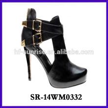2014 fashion socks high heel shoe woman boot