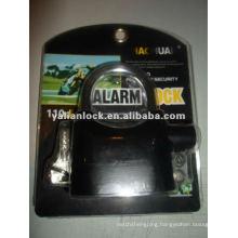Top security padlock with alarm