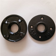 black color malleable iron threaded floor flanges