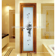 Modern interior frosted glass bathroom door/aluminium door for interior