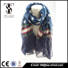 Soft summer uae scarf flower printed polyester shawls