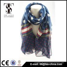 Weiche Sommer uae Schal Blume gedruckt Polyester Schals