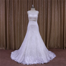 A-Line Wedding Dress Detachable Train