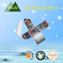 Impresión offset Impresión compatible y recubrimiento de un solo lado Papel térmico lateral Rolos gigantes