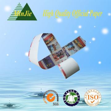 Impression offset Impression compatible et papier latéral à couche latérale Jumbo Rolls