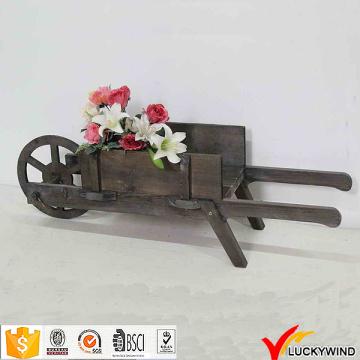 Uma roda Handmade Provincial Antique carrinho de madeira do jardim